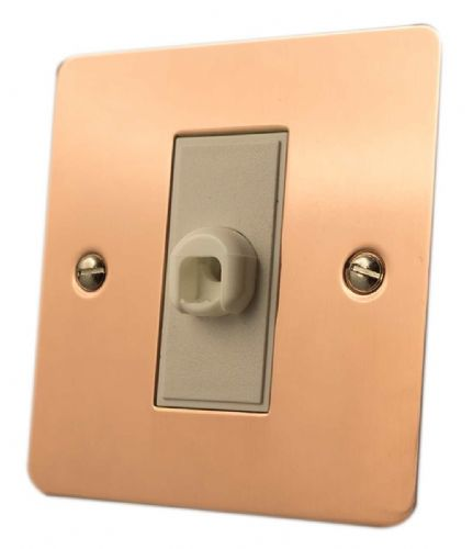 G&H FBC79W Flat Plate Bright Copper 1 Gang Flex Outlet Plate